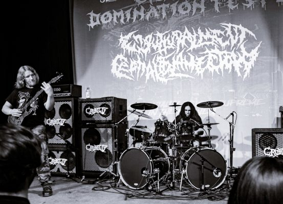 "ENGURTTURALMENT CEPHALOSLAMECTOMY Premieres ""Pour Some Pitriffs On Me"" Via Slam Worldwide"